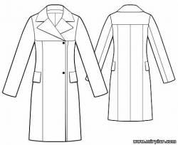 Плащ, пальто (шитьё, выкройка). 72612