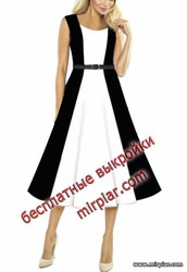 платье с лифом типа корсаж