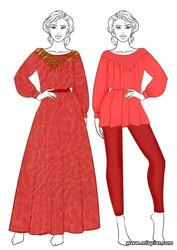 бесплатные выкройки блузы-туники