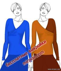 free pattern, пуловер, пуловер с запахом, выкройки скачать, pattern sewing, шитье, Скачать, готовые выкройки, блузка с запахом, выкройки бесплатно, драпировка, косая драпировка