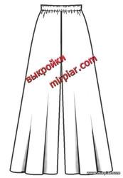 широкие брюки клеш на резинке, готовые выкройки, free pattern, бесплатные выкройки