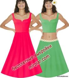 летнее платье или топ выкройка