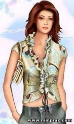 Модная блузка с воланом
