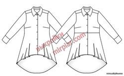 Мода плюс бесплатная выкройка туники или рубашки большие размеры