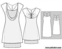 Двойное платье выкройка