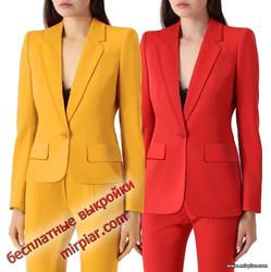 бесплатные выкройки женского жакета или пиджака