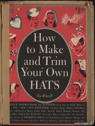 Старинные шляпки с выкройками