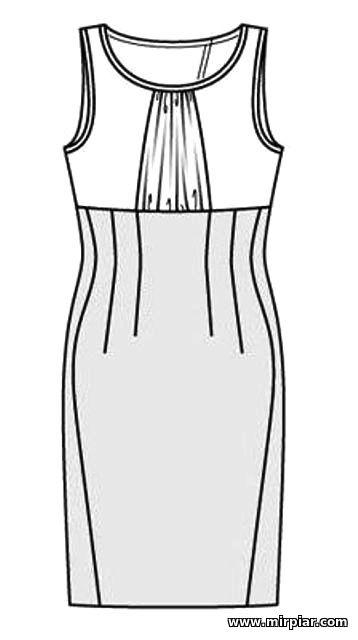 Выкройка одна платьев много