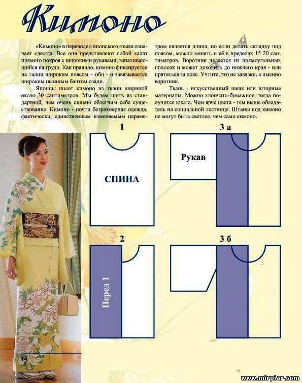 Выкройки простых кимоно