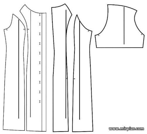 бесплатные выкройки приталенного платья рубашки