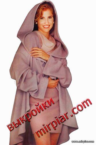 Пальто-накидка из ткани выкройка