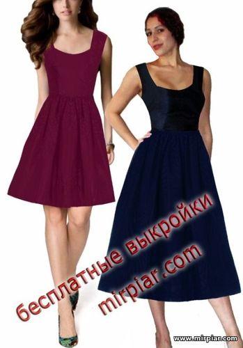 бесплатная выкройка платья корсаж