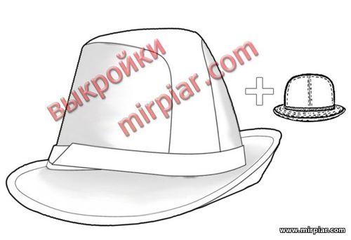 готовая бесплатная выкройка шляпы федора, free pattern hats, шитье