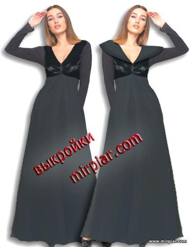 бесплатные выкройки платья с V образным вырезом