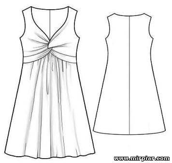 платья, выкройка платья с узлом, нарядное платье выкройка, вечернее