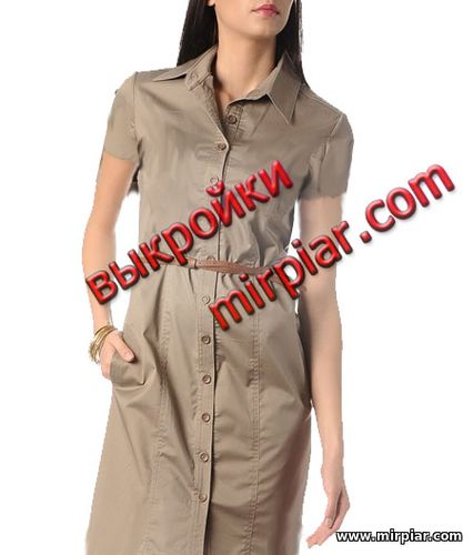 Выкройка платье рубашка 46 размер
