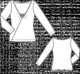 пуловер с драпировкой узел