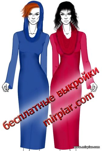 free pattern, платье,платье выкройка, пуловер, воротник хомут, капюшон, выкройка капюшона, выкройки скачать, скачать, шитье, платья, Pattern, выкройки бесплатно