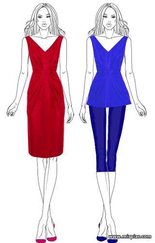 бесплатные выкройки платья с оригинальной драпировкой