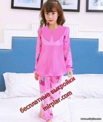 free pattern, пижама для девочки, детская одежда, pattern sewing, пижамы для детей, выкройка пижамы, детские выкройки, детские пижамы, выкройка, выкройки скачать, выкройки бесплатно, готовые выкройки