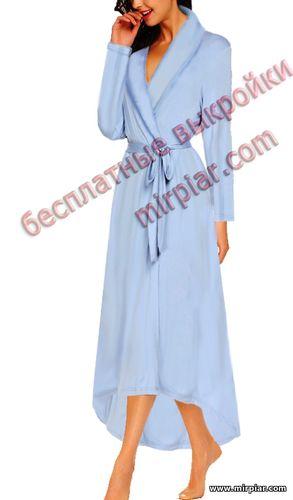 pattern sewing, женский халат, шитье, белье, выкройки белья, lingerie, выкройка халата, выкройка, шитье, выкройки бесплатно, free pattern, готовые выкройки, выкройки скачать