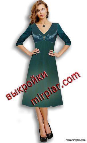 Платье с V образным вырезом бесплатные выкройки