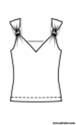 free pattern, летний топ, Скачать, шитье, топы, рукоделие, выкройка топа, готовые выкройки скачать, выкройки бесплатно, топ с узлами на бретелях