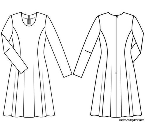32ddc4363eb0c8d Стиль 60-х годов - роскошное платье А-силуэта. Готовые выкройки в 9 ...