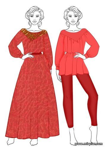 free pattern, pattern sewing, выкройка блузы, кокетка, туника