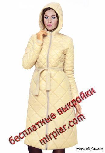 free pattern, стеганое пальто, пальто, выкройка пальто, выкройка капюшона,pattern sewing, пальто с капюшоном, выкройки скачать, готовые выкройки, скачать, шитье