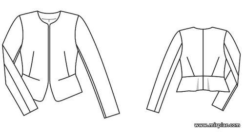 free pattern, жакет, выкройка жакета, выкройки бесплатно, pattern sewing, жакет спенсер, готовые выкройки, жакет с баской, выкройки скачать, Скачать, шитье