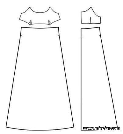 выкройки платья, сарафана или топа бесплатно