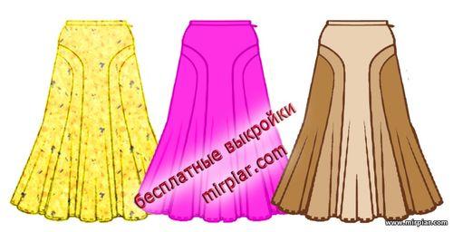 free pattern, pattern sewing, юбка, выкройка юбки, выкройки скачать
