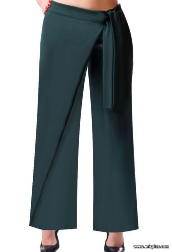Женские брюки / Обсуждения в сети / Выкройки для полных. Выкройка ... | 500x341