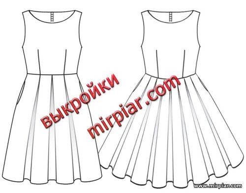 платье в стиле 50-х, dresses, выкройки платьев, выкройки бесплатно, free pattern, платье ретро