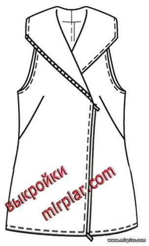 жилет, выкройка жилета, косуха, free pattern, выкройки бесплатно, pattern sewing, выкройки скачать, выкройка, одежда, готовые выкройки, шитье, мода
