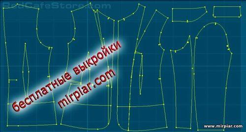 free pattern, жакет, pattern sewing, выкройка жакета, выкройки скачать, готовые выкройки, выкройки бесплатно, шитье, Скачать