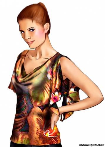 блуза или топ с драпировкой качели