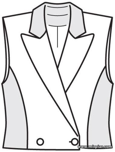 free pattern, жилет, выкройка жилета, выкройки скачать, pattern sewing, Скачать, шитье, готовые выкройки, выкройки бесплатно