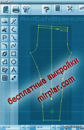 Выкройки в натуральную величину брюки женские