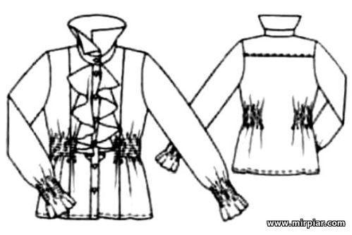 free pattern, блузка с жабо, pattern sewing, блузки, выкройки скачать, шитье, Скачать, готовые выкройки, выкройки бесплатно, БЛУЗЫ