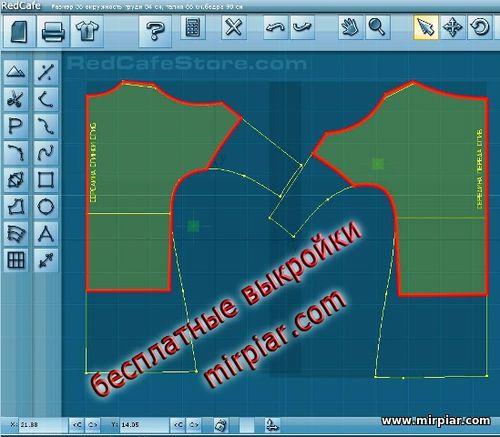 бесплатные выкройки туники с вырезами на плечах
