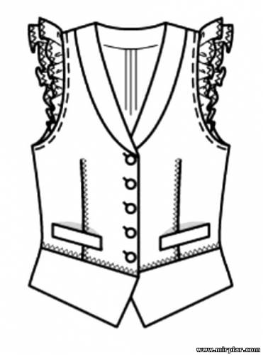 free pattern, жилет, топ, блуза, выкройки скачать, pattern sewing, Скачать, шитье, готовые выкройки, выкройки бесплатно