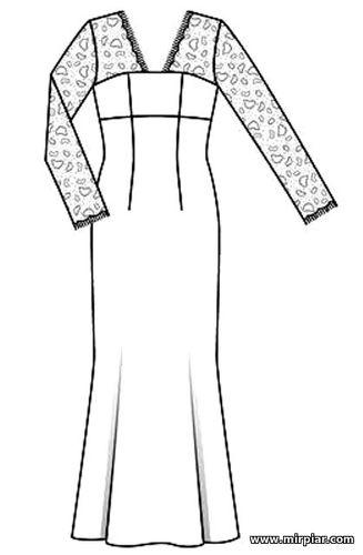 Выкройка мусульманского платья бесплатно
