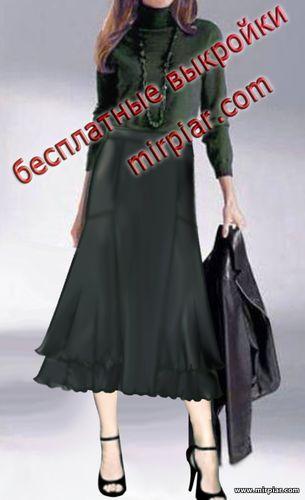 free pattern, юбка годе, pattern sewing, выкройка юбки, выкройки