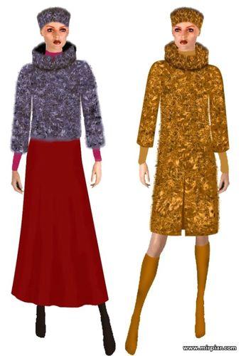 пальто меховое фото