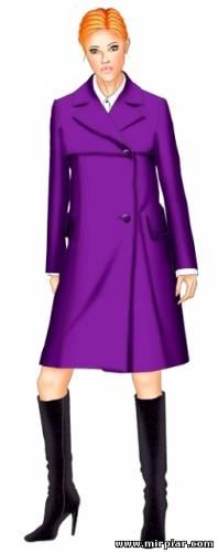 Плащ или пальто в стиле 60-х. Скачать выкройки  бесплатно в семи размерах