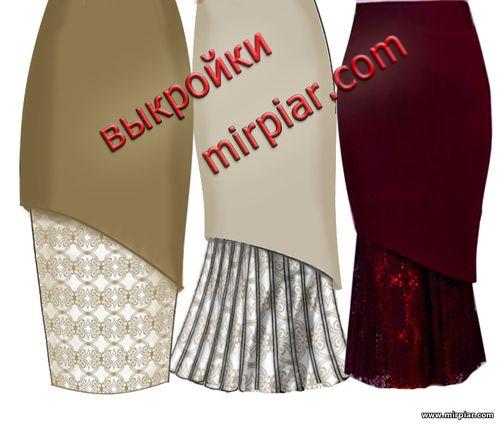 бесплатные выкройки юбки карандаш с вариантами