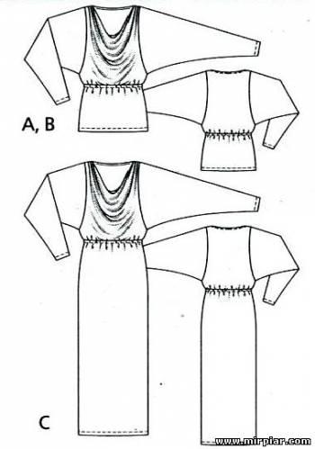 Платье и пуловер выкройки бесплатно (4)