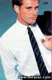 Узкий мужской галстук Выкройка